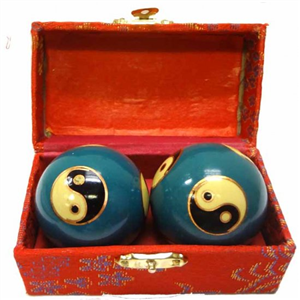 Blue Yin Yang Health Iron Balls
